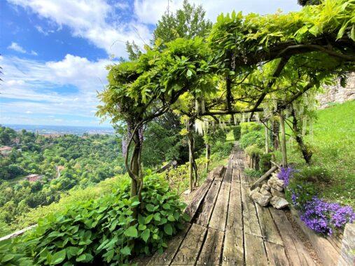 giardino vista e pergolato
